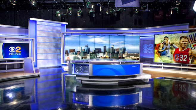 KCBS - Los Angeles, CA   - News Sets Set Design - 1
