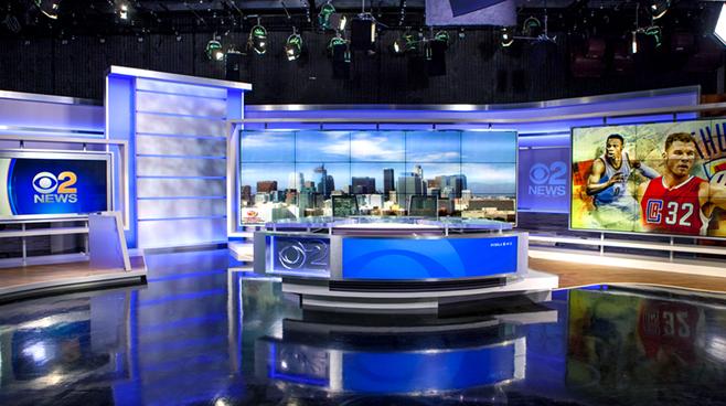 KCBS - Los Angeles, CA   - News Sets Set Design - 1