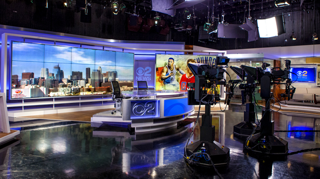 KCBS - Los Angeles, CA   - News Sets Set Design - 2