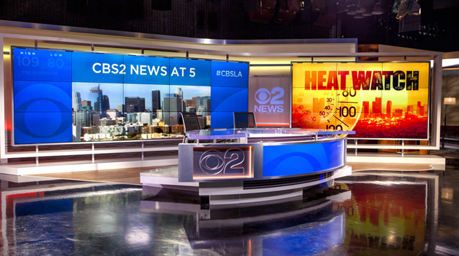 KCBS - Los Angeles, CA   - News Sets Set Design - 3