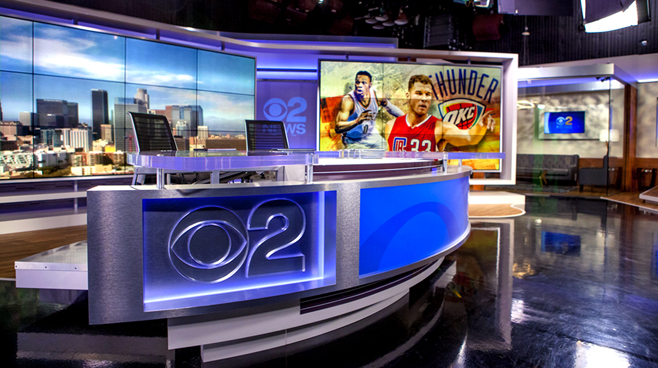KCBS - Los Angeles, CA   - News Sets Set Design - 4