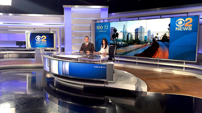 KCBS - Los Angeles, CA   - News Sets Set Design - 5