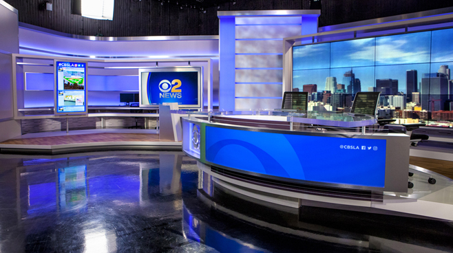 KCBS - Los Angeles, CA   - News Sets Set Design - 6
