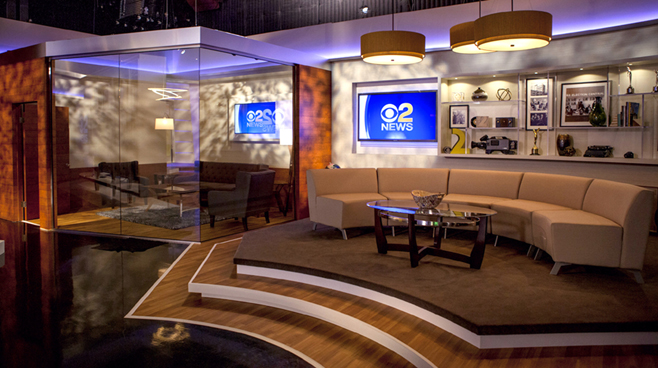 KCBS - Los Angeles, CA   - News Sets Set Design - 7