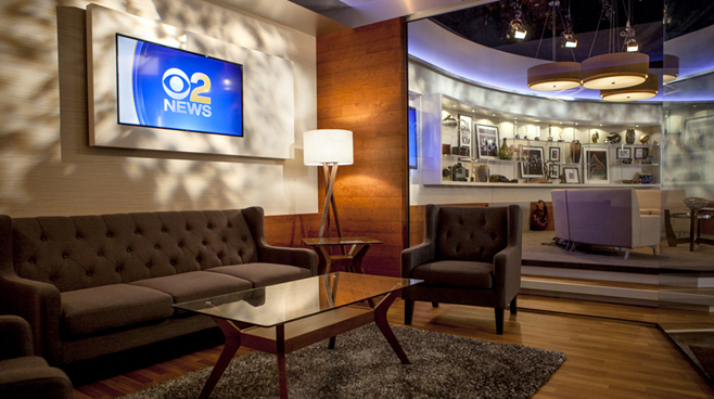 KCBS - Los Angeles, CA   - News Sets Set Design - 8
