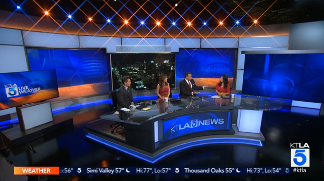 KTLA - Los Angeles, CA - News Sets Set Design - 1
