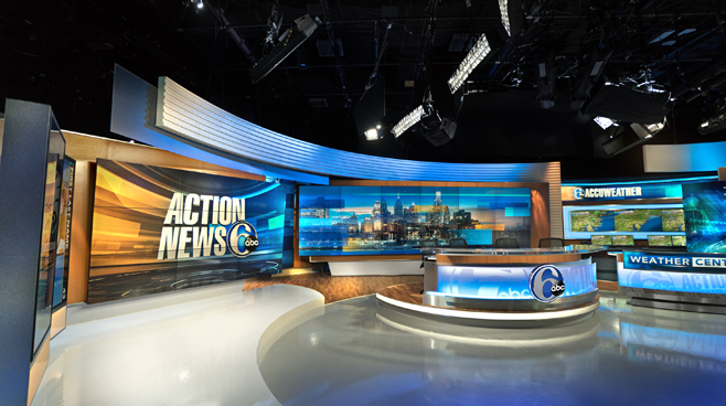 WPVI - Phiadelphia, PA - News Sets Set Design - 1