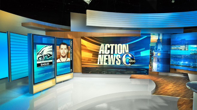 WPVI - Phiadelphia, PA - News Sets Set Design - 4