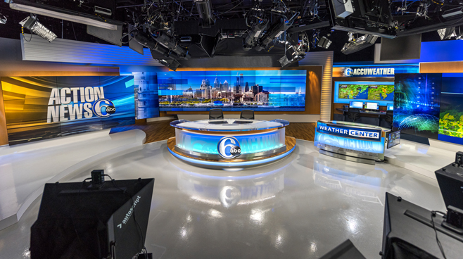 WPVI - Phiadelphia, PA - News Sets Set Design - 9
