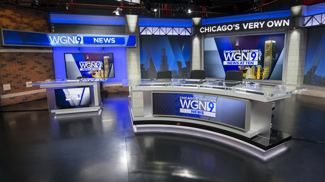 WGN - Chicago, IL - News Sets Set Design - 4