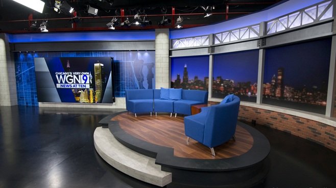 WGN - Chicago, IL - News Sets Set Design - 11