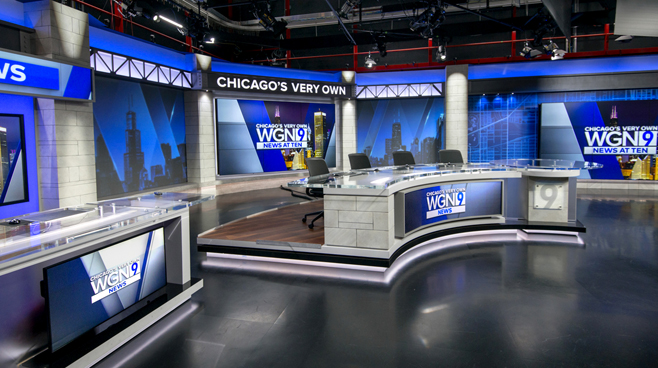WGN - Chicago, IL - News Sets Set Design - 7