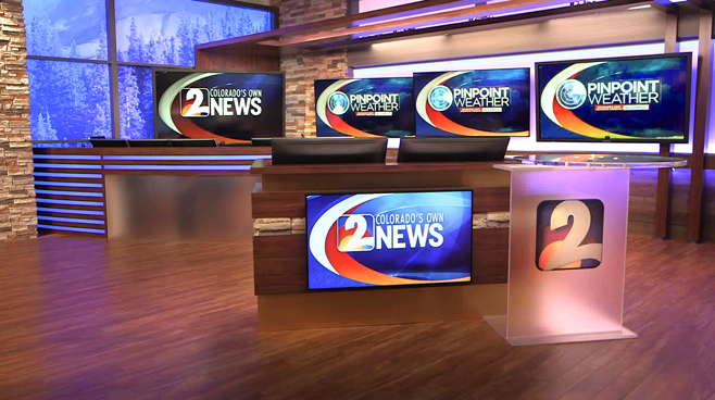 KWGN - Denver, CO - Weather Centers Set Design - 1