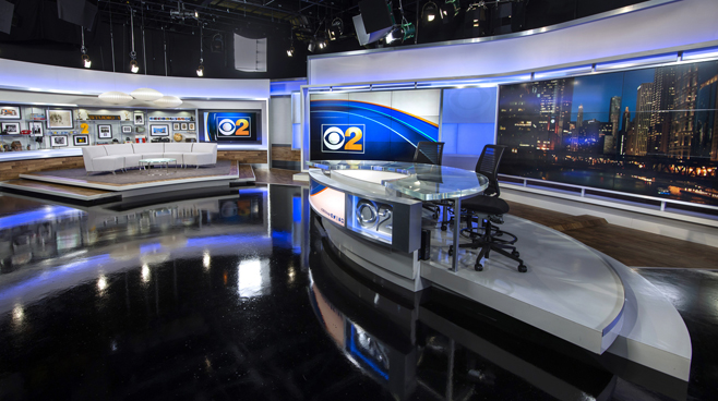 WBBM - Chicago, IL - News Sets Set Design - 6