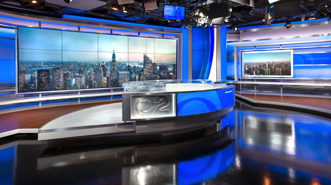 WCBS - New York, NY - News Sets Set Design - 2