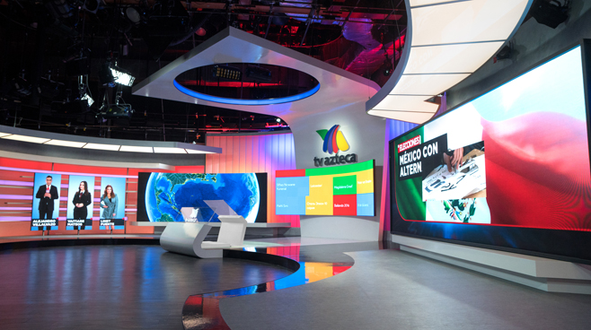 TV Azteca - Mexico City, Mexico - News Sets Set Design - 2