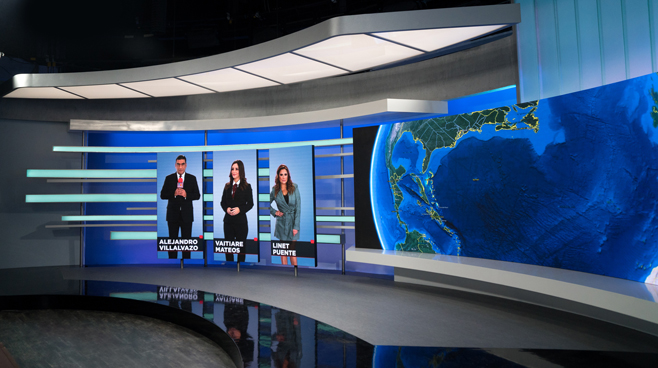 TV Azteca - Mexico City, Mexico - News Sets Set Design - 3