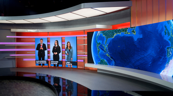 TV Azteca - Mexico City, Mexico - News Sets Set Design - 4