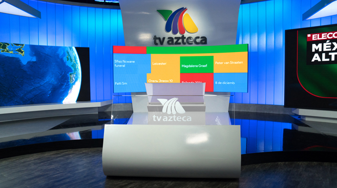 TV Azteca - Mexico City, Mexico - News Sets Set Design - 5