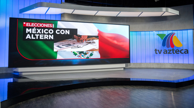 TV Azteca - Mexico City, Mexico - News Sets Set Design - 7