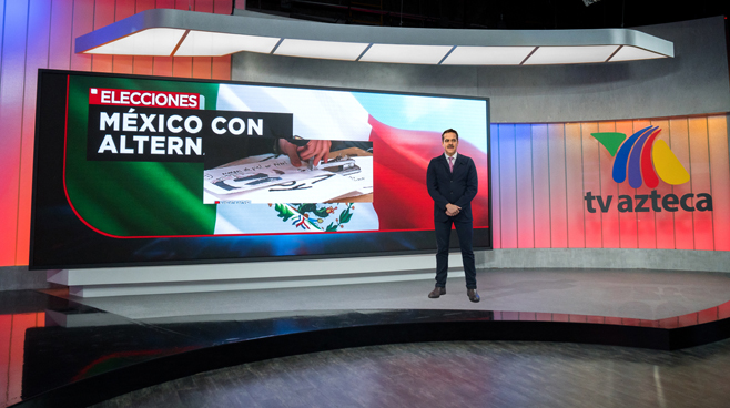 TV Azteca - Mexico City, Mexico - News Sets Set Design - 8
