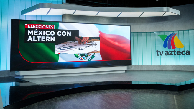 TV Azteca - Mexico City, Mexico - News Sets Set Design - 9