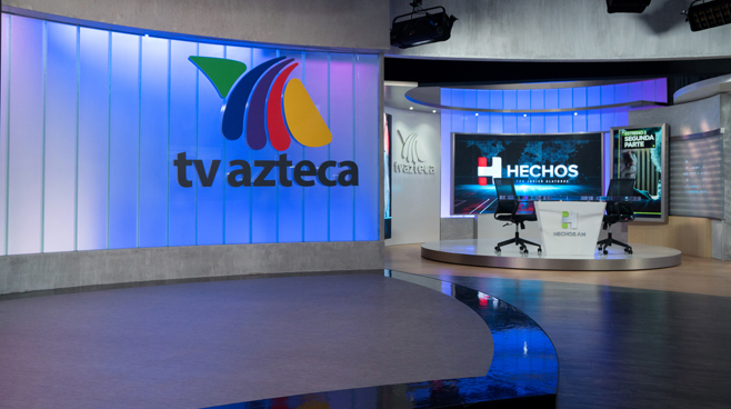 TV Azteca - Mexico City, Mexico - News Sets Set Design - 10