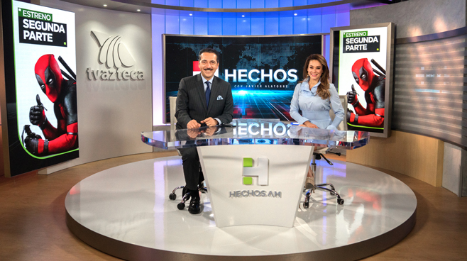 TV Azteca - Mexico City, Mexico - News Sets Set Design - 11