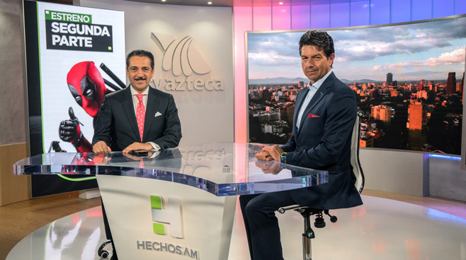 TV Azteca - Mexico City, Mexico - News Sets Set Design - 12
