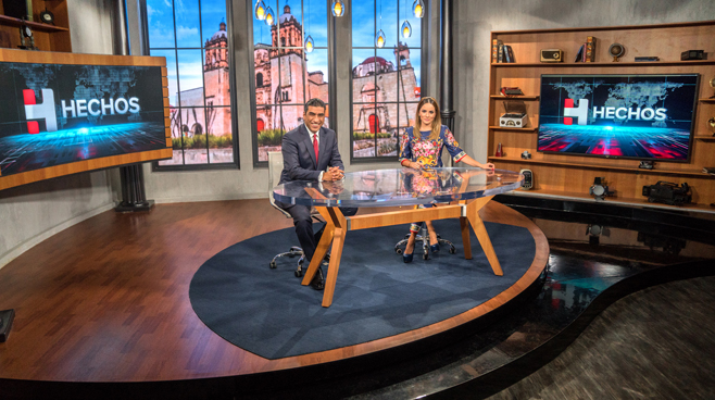 TV Azteca - Mexico City, Mexico - News Sets Set Design - 15