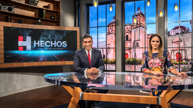 TV Azteca - Mexico City, Mexico - News Sets Set Design - 16