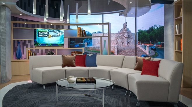 TV Azteca - Mexico City, Mexico - News Sets Set Design - 18