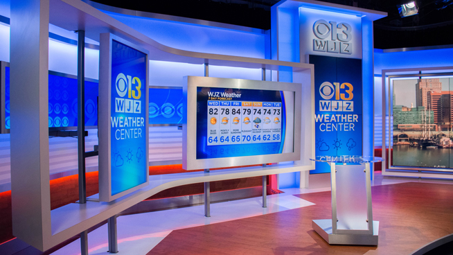 WJZ - Baltimore, MD - Weather Centers Set Design - 1