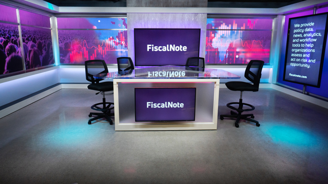 FiscalNote - Washington, DC - News Sets Set Design - 1