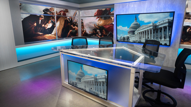 FiscalNote - Washington, DC - News Sets Set Design - 2