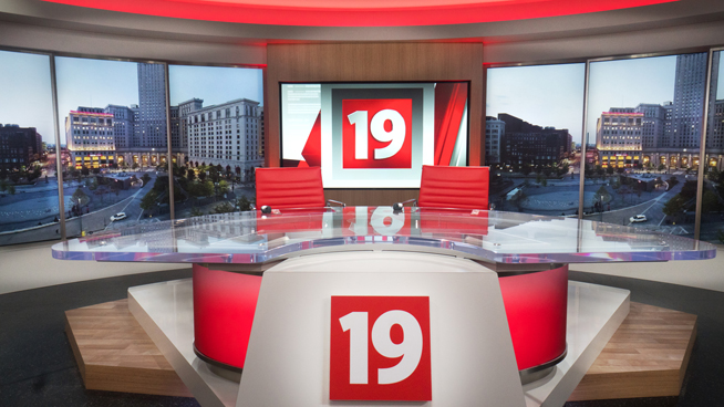 WOIO - Cleveland, OH - News Sets Set Design - 1