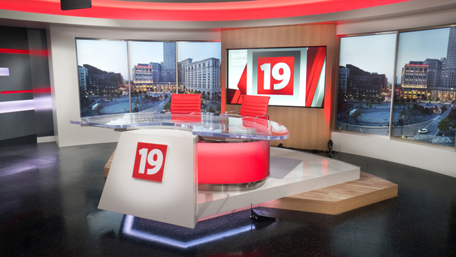 WOIO - Cleveland, OH - News Sets Set Design - 4