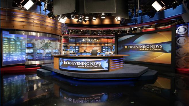 CBS - New York - News Sets Set Design - 1