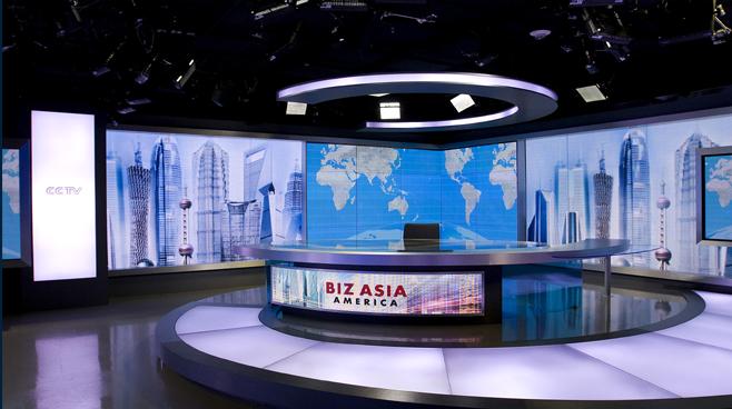 CCTV - Washington. DC - News Sets Set Design - 2