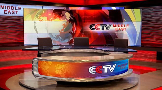 CCTV Middle East - Dubai - News Sets Set Design - 1