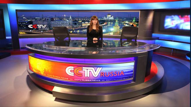 CCTV Russia - Moscow - News Sets Set Design - 2