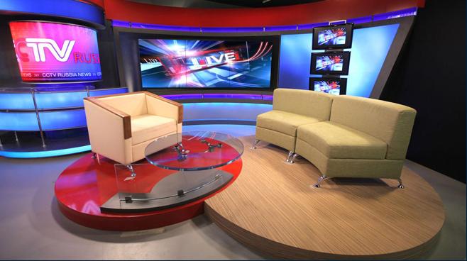 CCTV Russia - Moscow - News Sets Set Design - 3