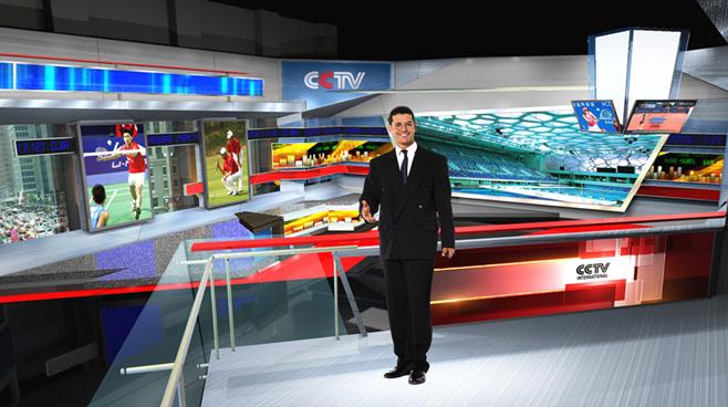 CCTV  - Beijing, China - Virtual Sets Set Design - 1