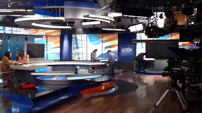 Caracol - Columbia - News Sets Set Design - 3