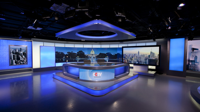 CCTV Washington DC - Washington DC - News Sets Set Design - 4