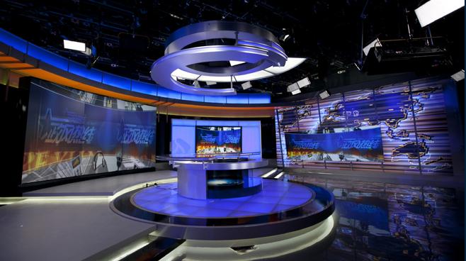 Jiangsu TV -  Nanjing, China - News Sets Set Design - 2