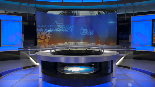 Jiangsu TV -  Nanjing, China - News Sets Set Design - 4