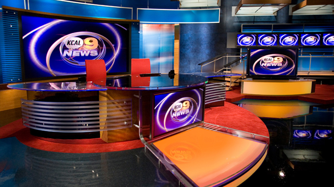KCAL - LOS ANGELES, CA - News Sets Set Design - 1