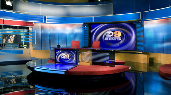 KCAL - LOS ANGELES, CA - News Sets Set Design - 2