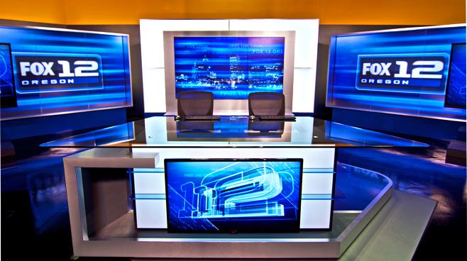 KPTV - PORTLAND, OR - News Sets Set Design - 1